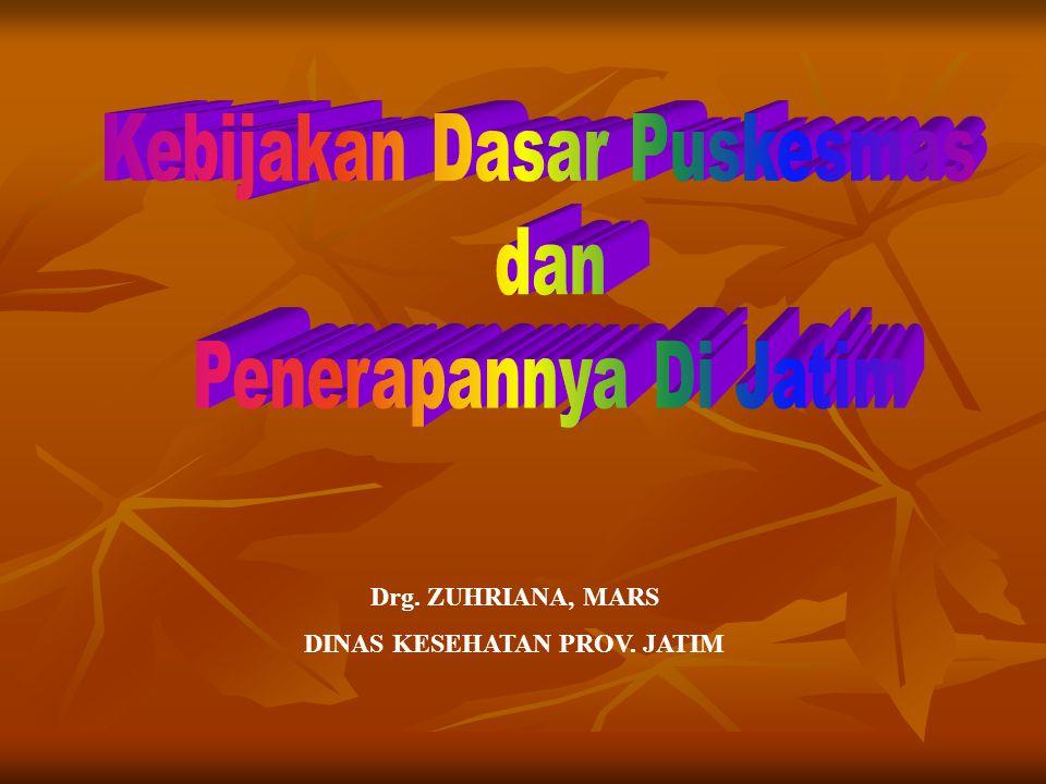 Drg. ZUHRIANA, MARS DINAS KESEHATAN PROV. JATIM