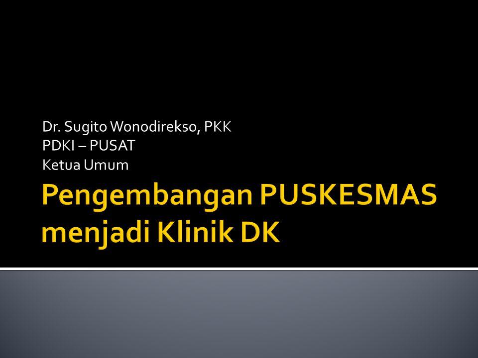 Dr. Sugito Wonodirekso, PKK PDKI – PUSAT Ketua Umum
