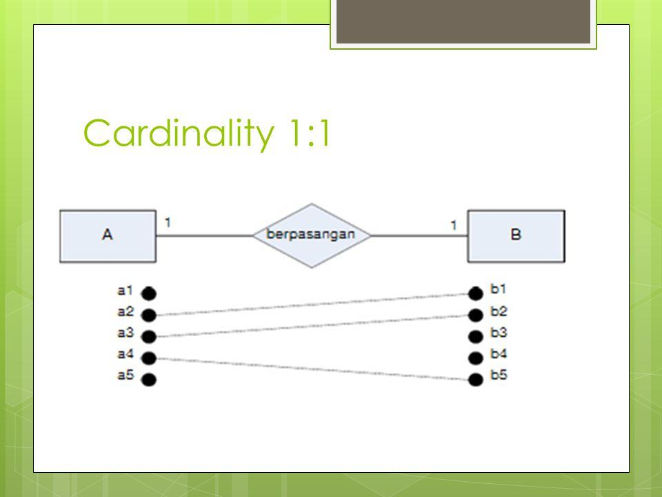 Cardinality 1: M