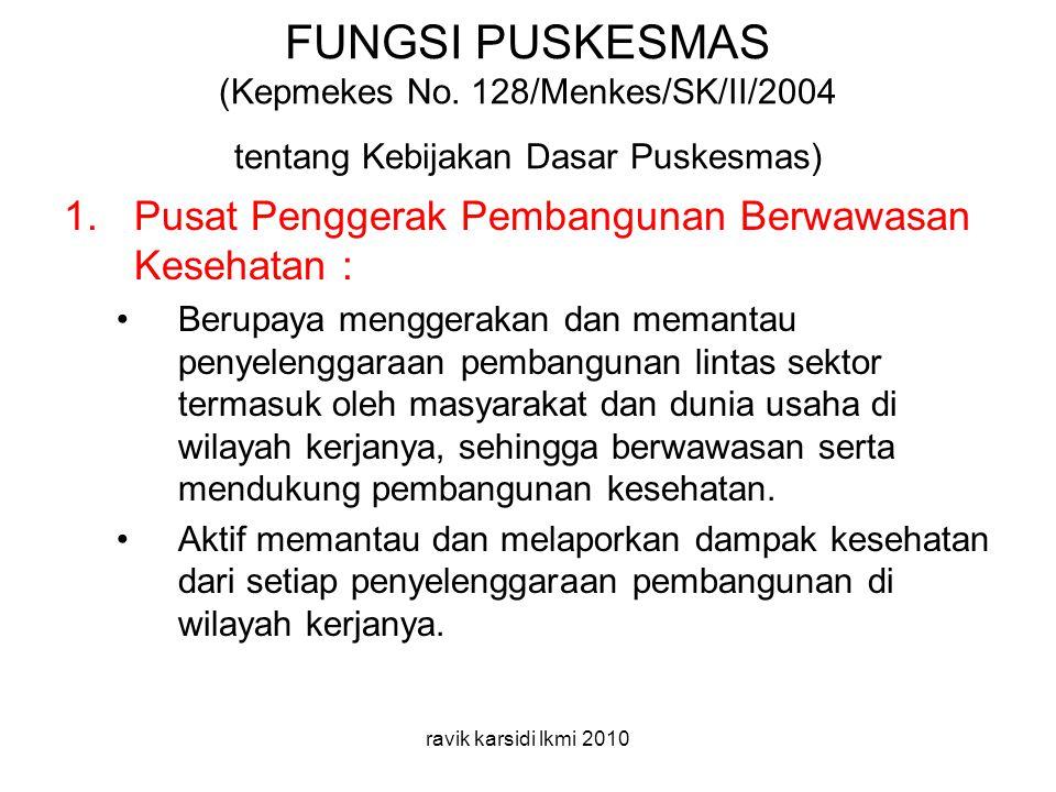 FUNGSI PUSKESMAS (Kepmekes No.