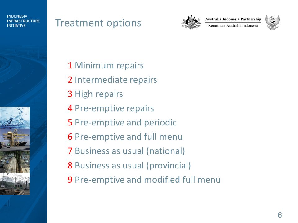 7 Comparing treatment options Undertaking major works saves money in the long run.