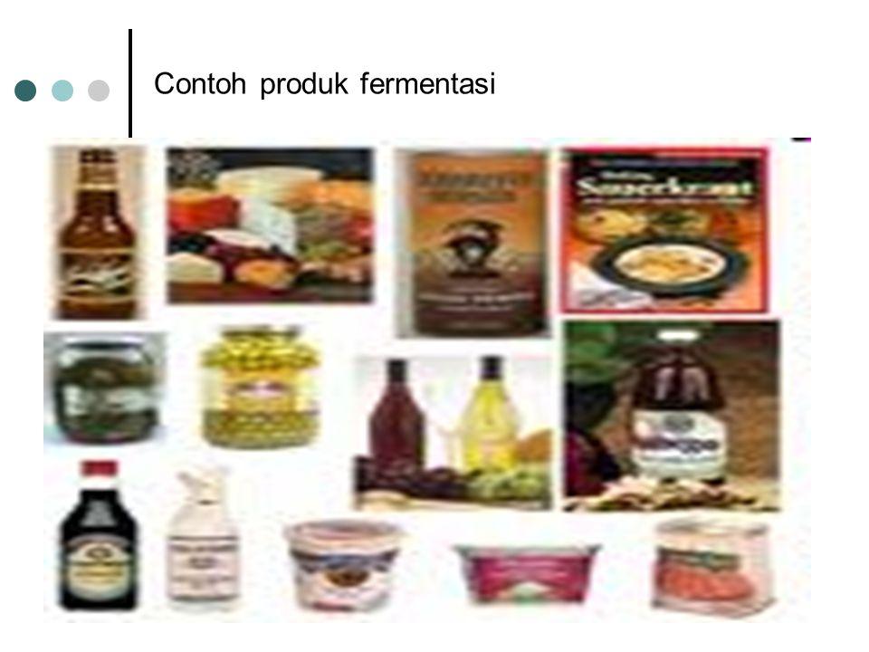 Contoh produk fermentasi