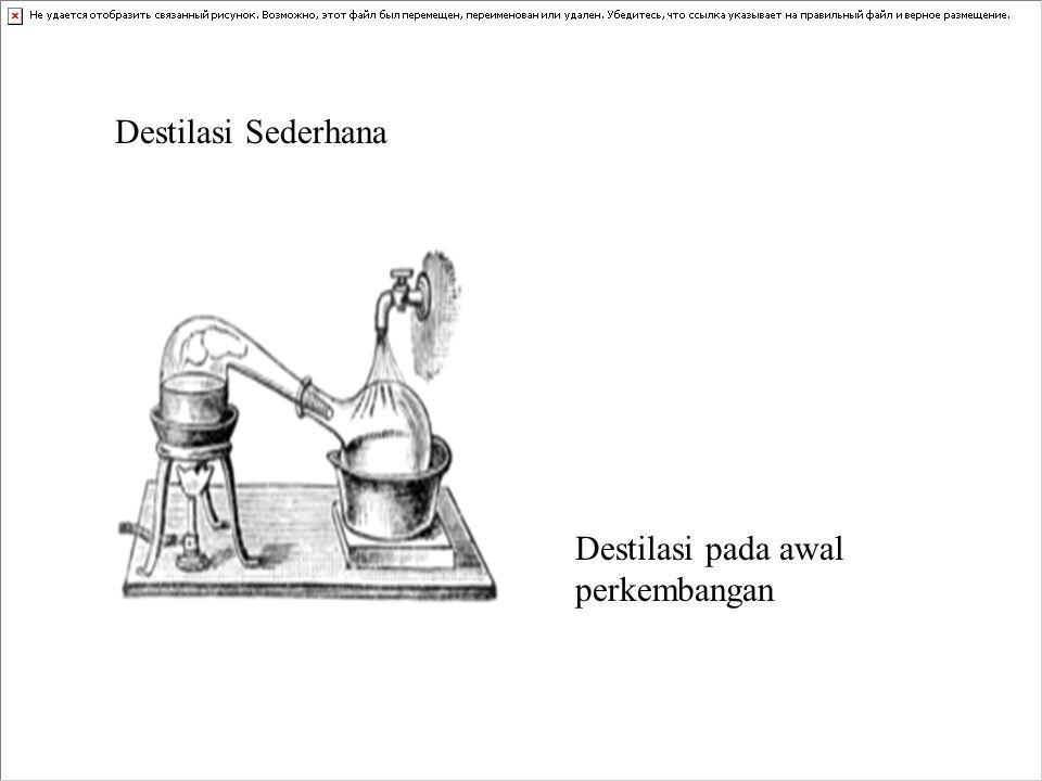 Destilasi Sederhana Destilasi pada awal perkembangan