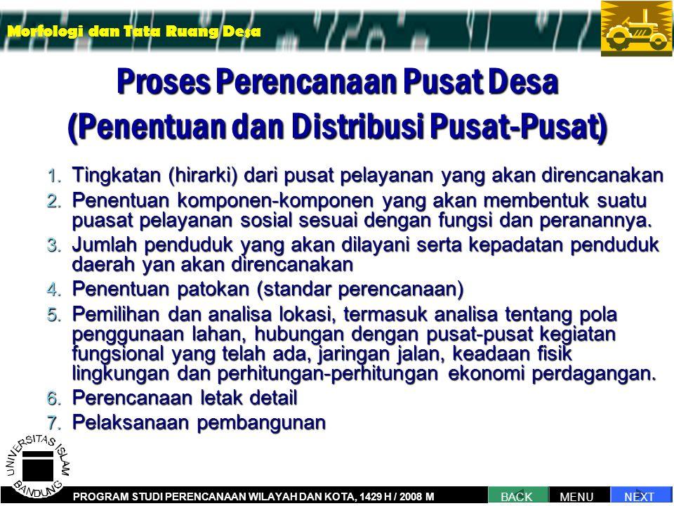 Proses Perencanaan Pusat Desa (Penentuan dan Distribusi Pusat-Pusat) 1.