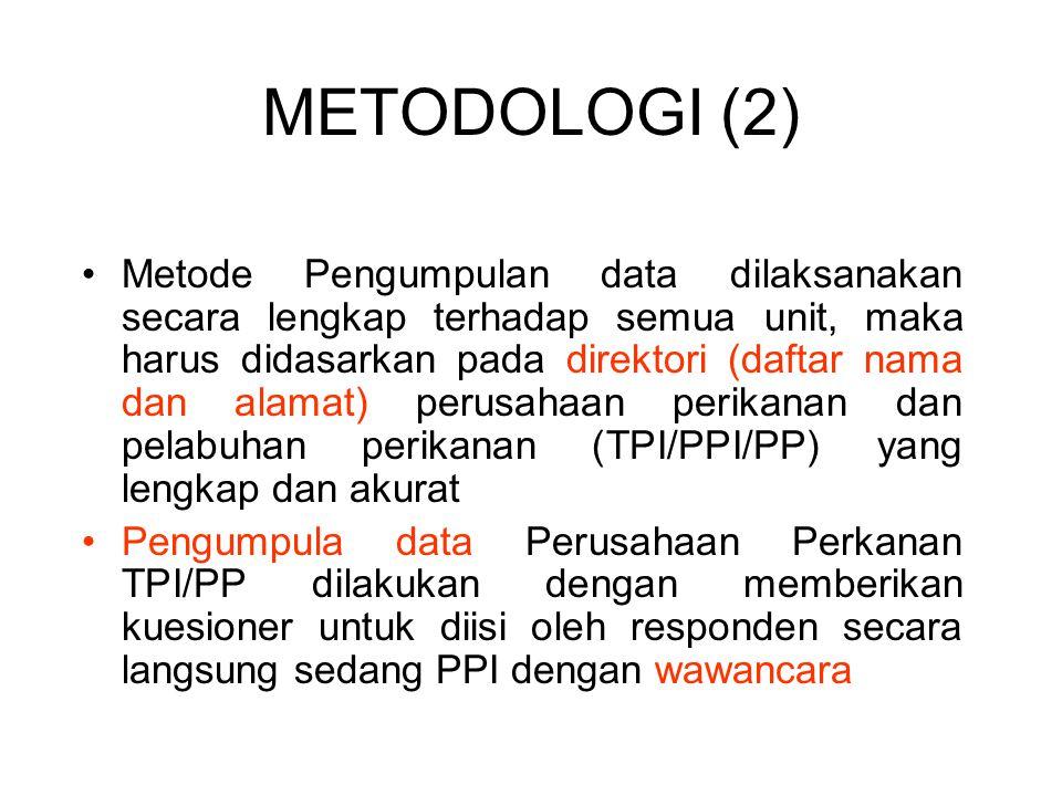Metode Pengumpulan data dilaksanakan secara lengkap terhadap semua unit, maka harus didasarkan pada direktori (daftar nama dan alamat) perusahaan peri