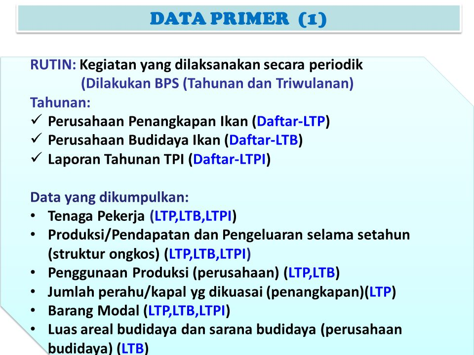 DAFTAR LTP Blok IV R.A/ B/ dan C jumlah produksi tidak sama dengan total penggunaan produksi (Blok VI)