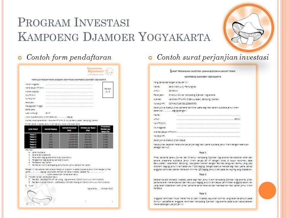 Contoh form pendaftaran Contoh surat perjanjian investasi