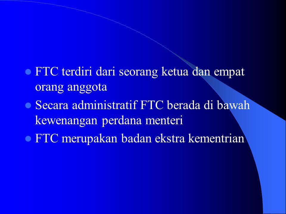 Kelembagaan Pengawasan dilakukan oleh FTC (Fair Trade Commission) Sering berbenturan dengan MITI yang cenderung mendorong merger dan akuisisi agar bis