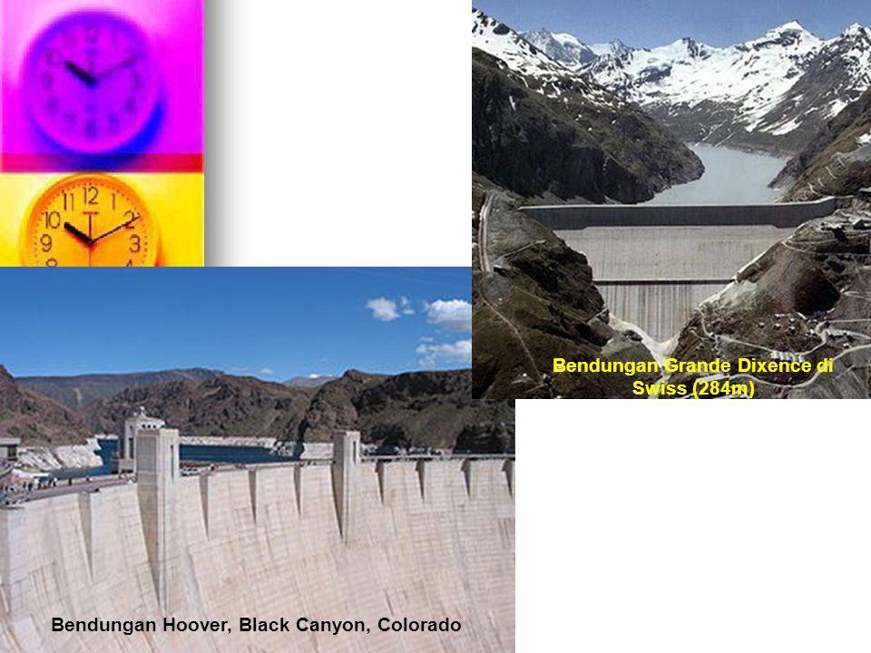 Bendungan Hoover, Black Canyon, Colorado Bendungan Grande Dixence di Swiss (284m)
