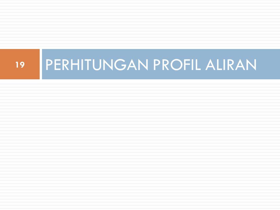 PERHITUNGAN PROFIL ALIRAN 19