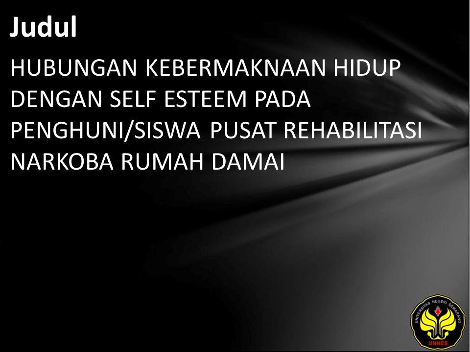 Abstrak Jumlah pengguna narkoba di Indonesia semakin tahun semakin meningkat.