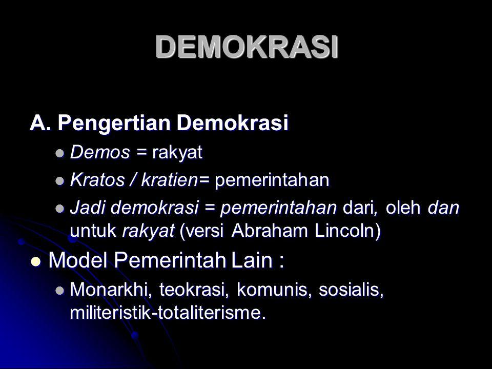 DEMOKRASI A.