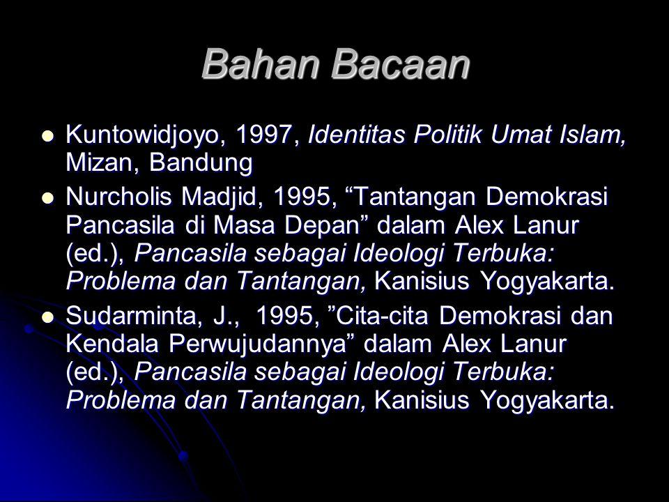 E. Kendala Demokratisasi di Indonesia Demokrasi hanya berlaku dalam masyarakat rasional, jika masyarakatnya tidak rasional bagaimana demokrasi dapat d
