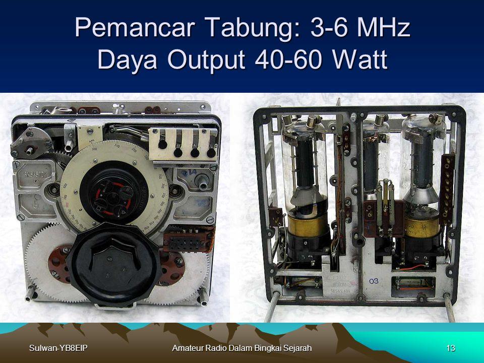 Sulwan-YB8EIPAmateur Radio Dalam Bingkai Sejarah12 Komunikasi Radio Mode CW