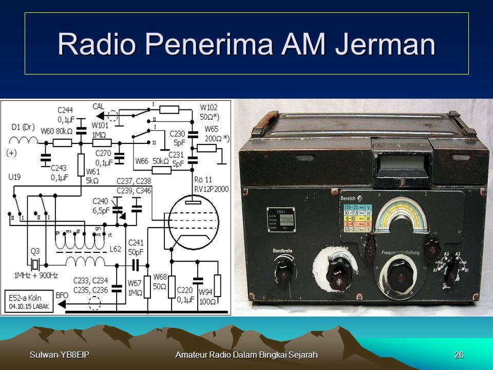 Sulwan-YB8EIPAmateur Radio Dalam Bingkai Sejarah25 Radio Komunikasi AM PemancarRadio Penerima