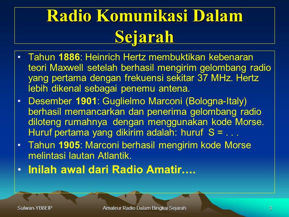 Sulwan-YB8EIPAmateur Radio Dalam Bingkai Sejarah2 Radio Komunikasi Dalam Sejarah Radio Komunikasi Dalam Sejarah Tahun 1600: Williem Gilbert dari Inggr