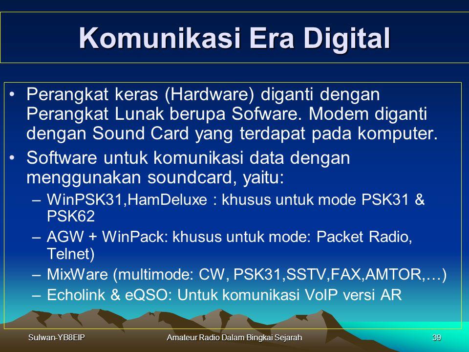 Sulwan-YB8EIPAmateur Radio Dalam Bingkai Sejarah38 Komunikasi Mode Digital Pada Era Ali Topan Anak Jalanan