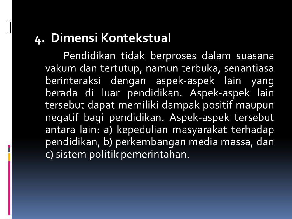 5.Matriks Reformasi Pendidikan 6. Sekolah Mandiri 7.