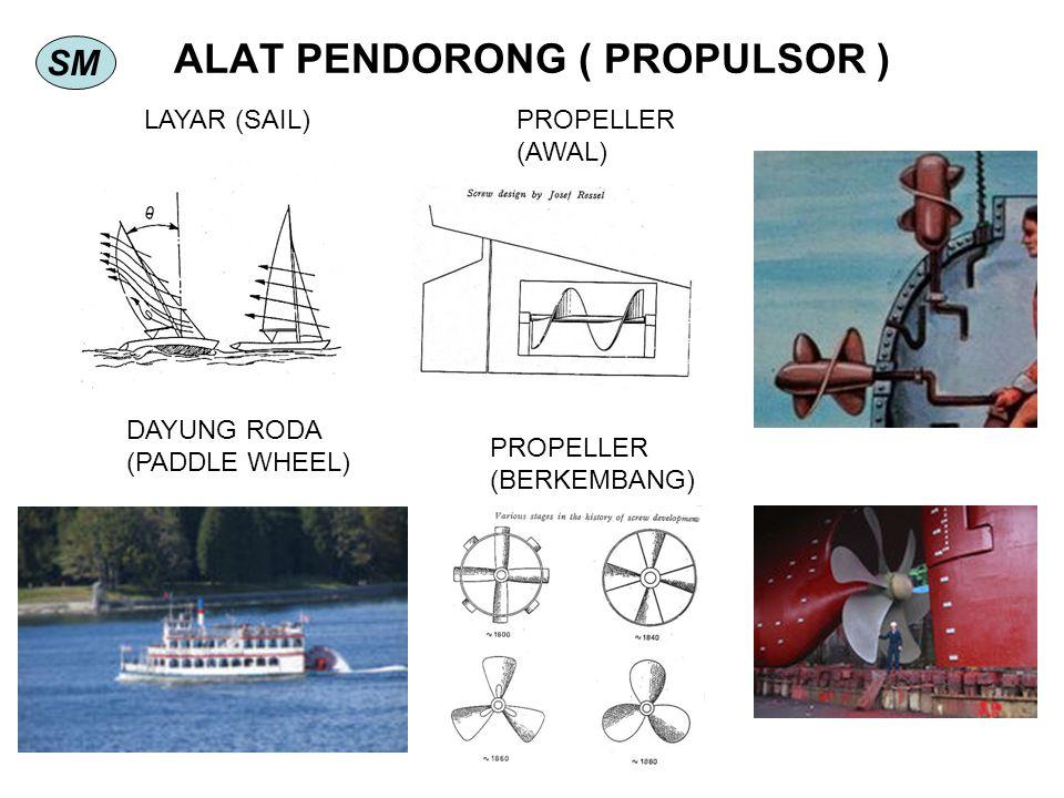 SM ALAT PENDORONG ( PROPULSOR ) DAYUNG RODA (PADDLE WHEEL) LAYAR (SAIL)PROPELLER (AWAL) PROPELLER (BERKEMBANG)