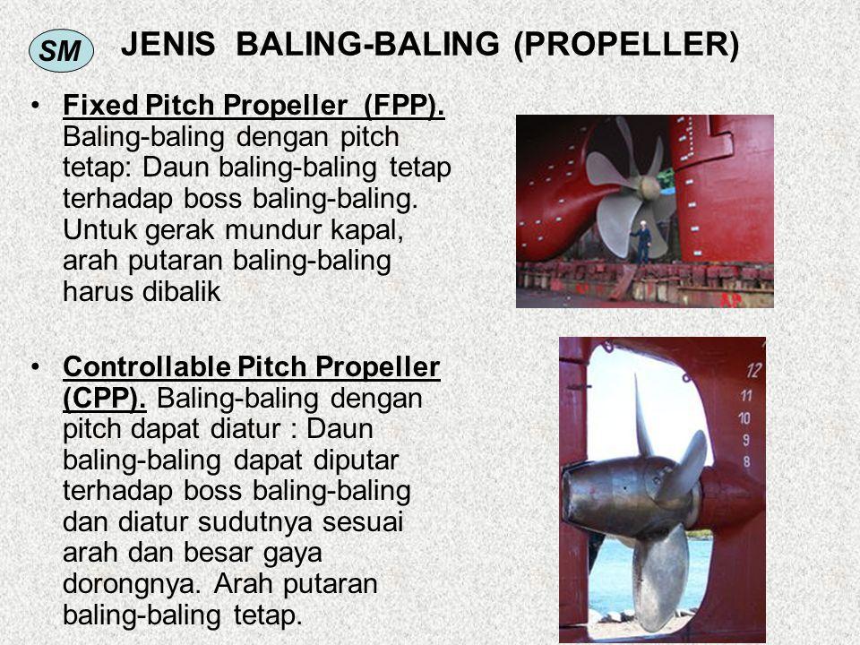 SM JENIS BALING-BALING (PROPELLER) Fixed Pitch Propeller (FPP). Baling-baling dengan pitch tetap: Daun baling-baling tetap terhadap boss baling-baling