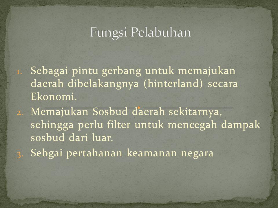 Kondisi Alam 1.Alam  Cilacap & Dumai 2. Buatan  Tanjung mas, perak, priok 3.