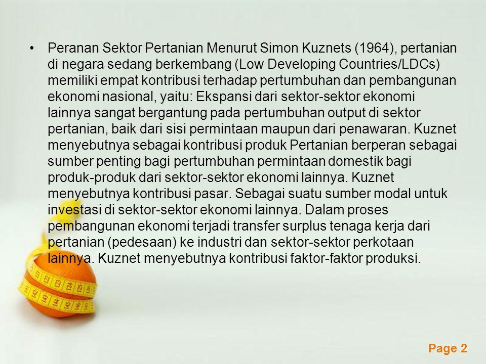 Powerpoint Templates Page 3 Sektor Pertanian Sub sektor: Sub sektor bahan makanan.