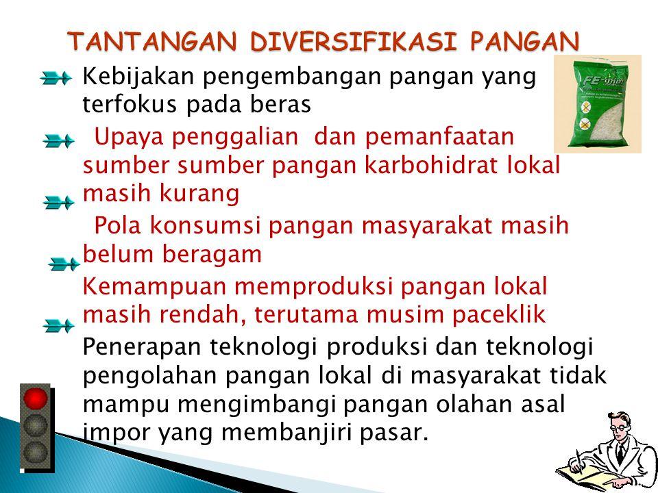 konsumsi beras di Indonesia masih di atas 100 kg per kapita per tahun (Hermanto, 2008) Idealnya, 60 kg per kapita per tahun, (Jepang) Ketergantungan M