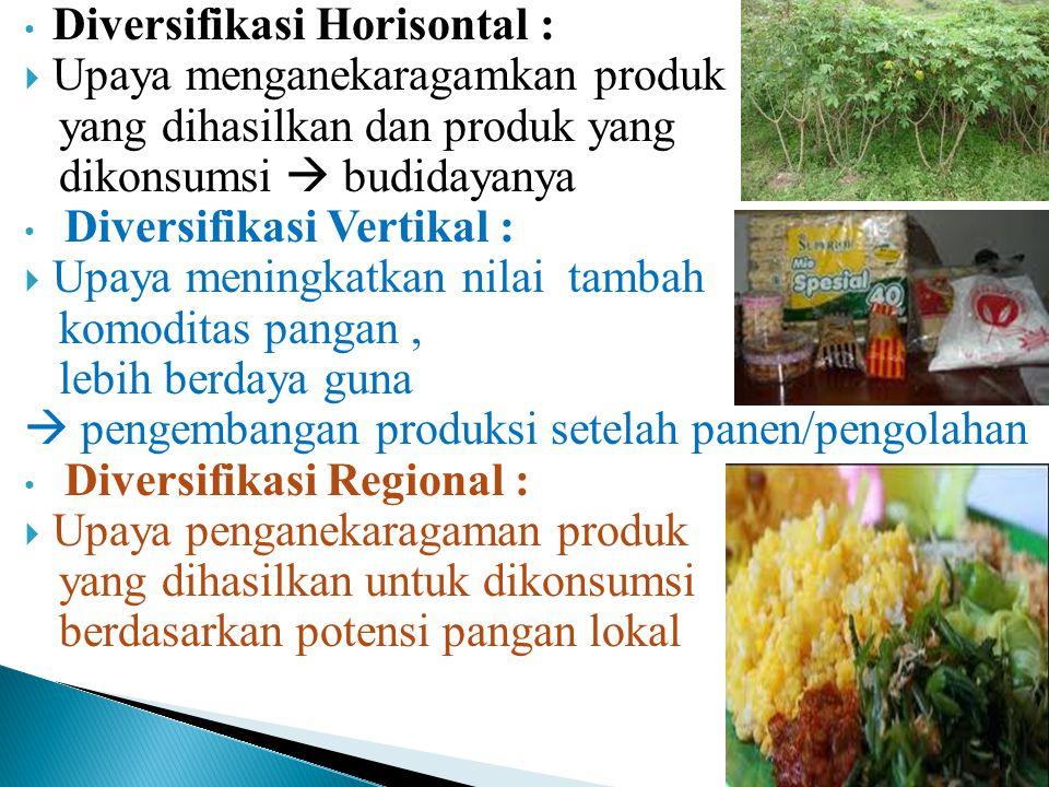 Konsumsi : Potensi : Meningkatkan pendapatan Pengembangan industri pangan  diperlukan : Pengawasan gizi Pengawasan higiene Pengawasan keamanan pangan Berkembangnya produk makanan jadi atau makanan cepat/ siap santap