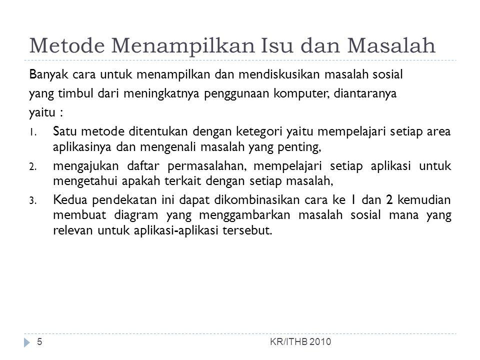 KR/ITHB 2010  Next…. Aspek Hukum Dan Kode Etik 26