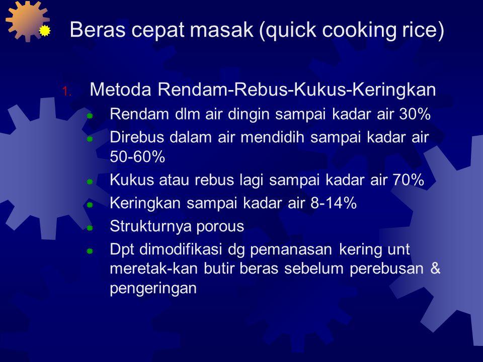  Beras cepat masak (quick cooking rice) 1.