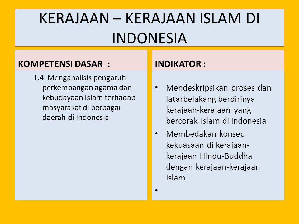 INDONESIA PADA MASA KERAJAAN-KERAJAAN BERCORAK ISLAM 1.