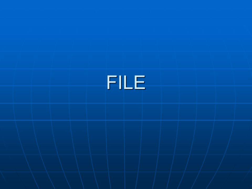 Prosedur standar erase Prosedur standar ini digunakan utnuk maenghapus suatu eksternal file dengan sintak: erase(f);contoh:assign(rekam,'a:gaji.dat');erase(rekam);