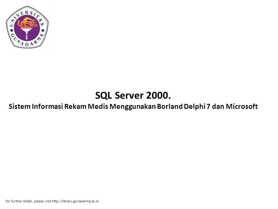 SQL Server 2000.