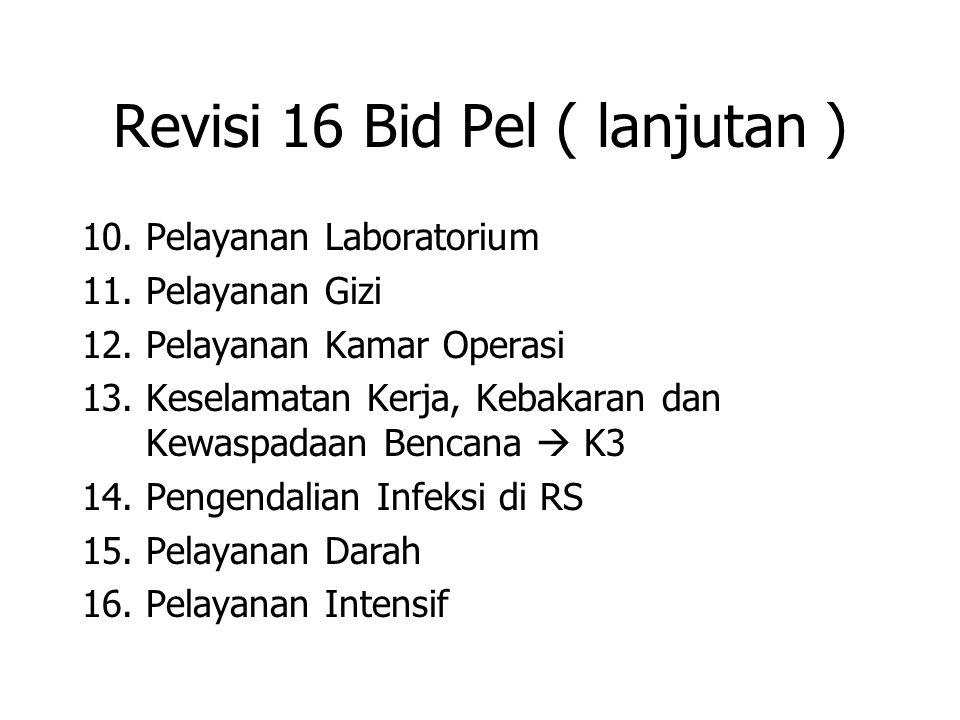 Revisi 16 Bid Pel ( lanjutan ) 10.Pelayanan Laboratorium 11.