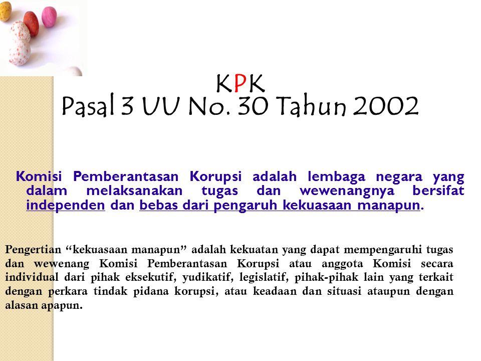 KPK Pasal 3 UU No.