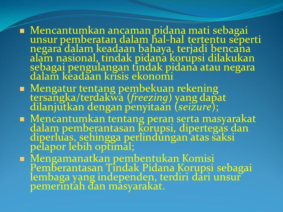 PEMBERIAN SUAP / SOGOK ( BRIBERY )  PENGGELAPAN ( EMBEZZLEMENT )  PEMALSUAN ( FRAUD )  PEMERASAN ( EXORTION )  PENYALAHGUNAAN JABATAN ATAU WEWENANG ( ABUSE OF POWER )  PILIH KASIH ( FAVORITISM )  MENERIMA KOMISI (COMMISION )  NEPOTISME (NEPOTISM )  KONTRIBUSI ATAU SUMBANGAN ILLEGAL ( ILLEGAL CONTRIBUTION )  PEMBERIAN SUAP / SOGOK ( BRIBERY )  PENGGELAPAN ( EMBEZZLEMENT )  PEMALSUAN ( FRAUD )  PEMERASAN ( EXORTION )  PENYALAHGUNAAN JABATAN ATAU WEWENANG ( ABUSE OF POWER )  PILIH KASIH ( FAVORITISM )  MENERIMA KOMISI (COMMISION )  NEPOTISME (NEPOTISM )  KONTRIBUSI ATAU SUMBANGAN ILLEGAL ( ILLEGAL CONTRIBUTION ) MODUS OPERANDI TINDAK PIDANA KORUPSI
