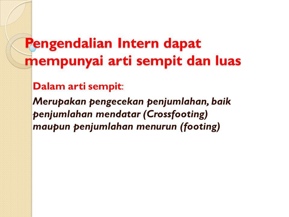 PENGENDALIAN INTERN (Internal Control)