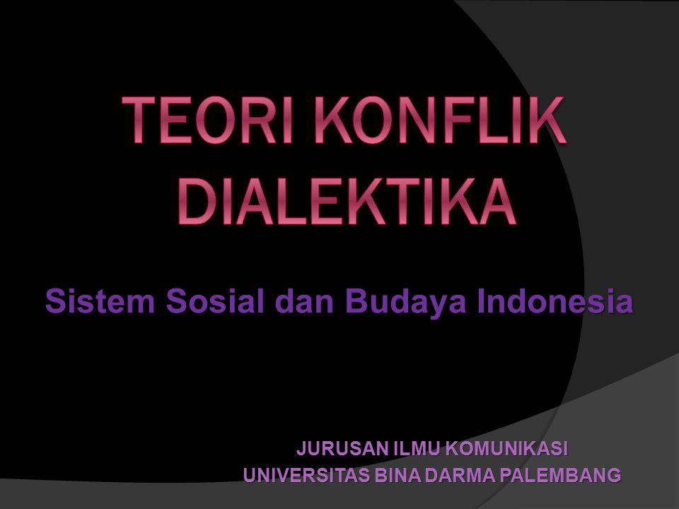 JURUSAN ILMU KOMUNIKASI UNIVERSITAS BINA DARMA PALEMBANG Sistem Sosial dan Budaya Indonesia
