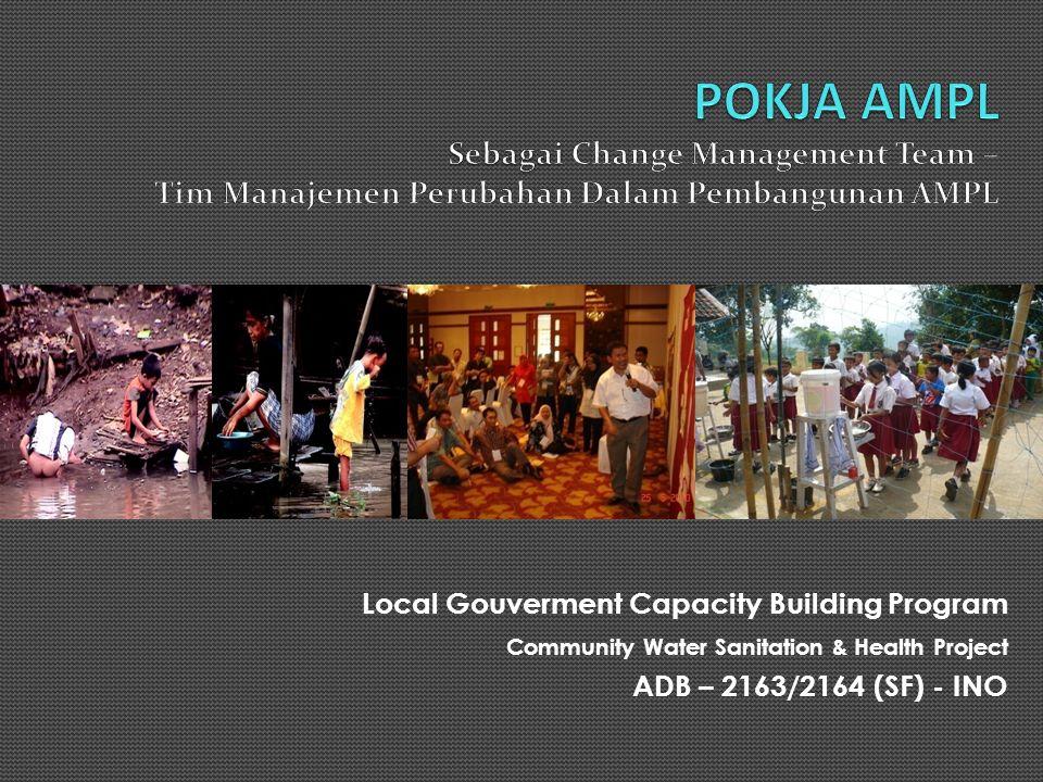 Latar Belakang Sebagaimana proyek AMPL-Berbasis Masyarakat lainnya, CWSHP menjadi bagian dalam upaya pemerintah Indonesia dalam memenuhi target layanan air minum dan penyehatan lingkungan di Indonesia Keberlanjutan proyek AMPL-Berbasis Masyarakat di tingkat daerah menjadi isu penting yang perlu disikapi dengan strategi yang efektif Kebijakan Nasional AMPL-Berbasis Masyarakat, Pokja AMPL dan Renstra AMPL merupakan instrumen penting untuk memastikan keberlanjutan pembangunan AMPL