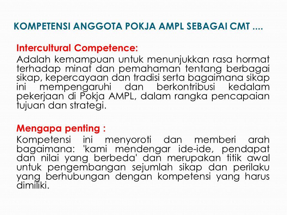 Intercultural Competence: Adalah kemampuan untuk menunjukkan rasa hormat terhadap minat dan pemahaman tentang berbagai sikap, kepercayaan dan tradisi