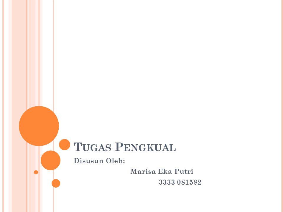 T UGAS P ENGKUAL Disusun Oleh: Marisa Eka Putri 3333 081582