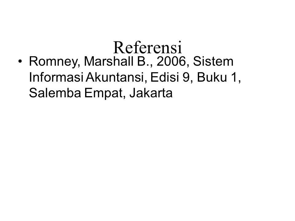 47/total Referensi Romney, Marshall B., 2006, Sistem Informasi Akuntansi, Edisi 9, Buku 1, Salemba Empat, Jakarta