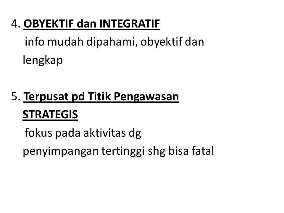 4.OBYEKTIF dan INTEGRATIF info mudah dipahami, obyektif dan lengkap 5.