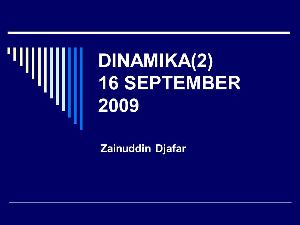 DINAMIKA(2) 16 SEPTEMBER 2009 Zainuddin Djafar