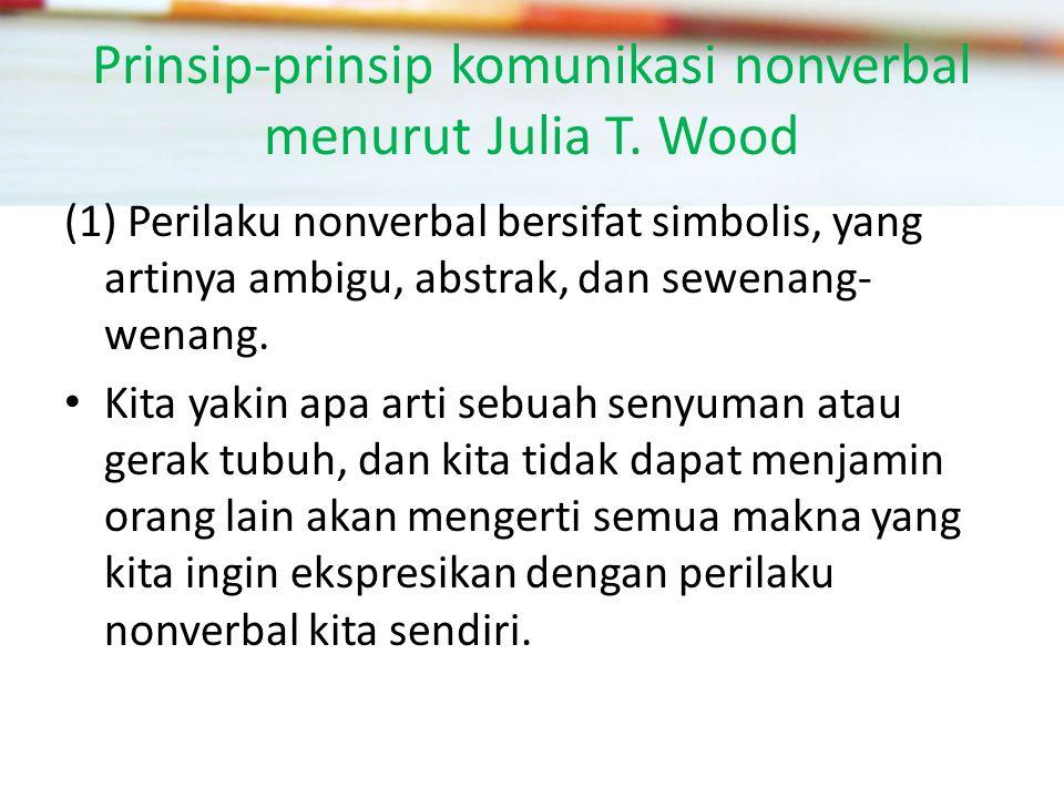 Prinsip-prinsip komunikasi nonverbal menurut Julia T.