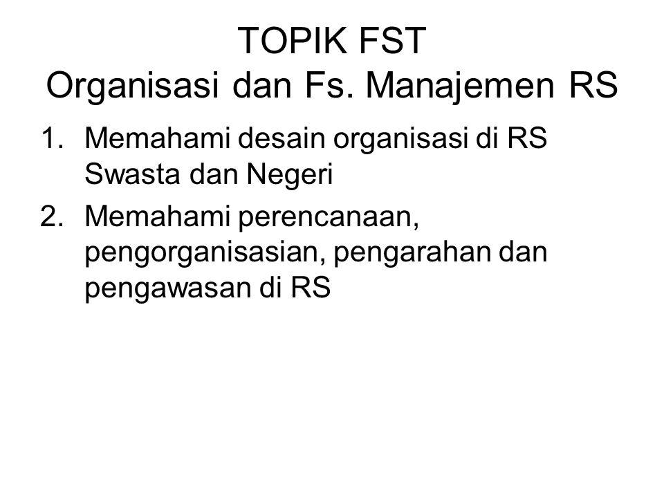 TOPIK FST Organisasi dan Fs.