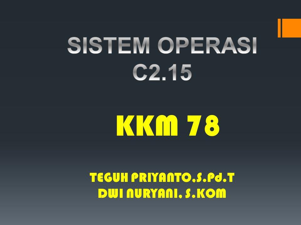 TEGUH PRIYANTO,S.Pd.T DWI NURYANI, S.KOM KKM 78