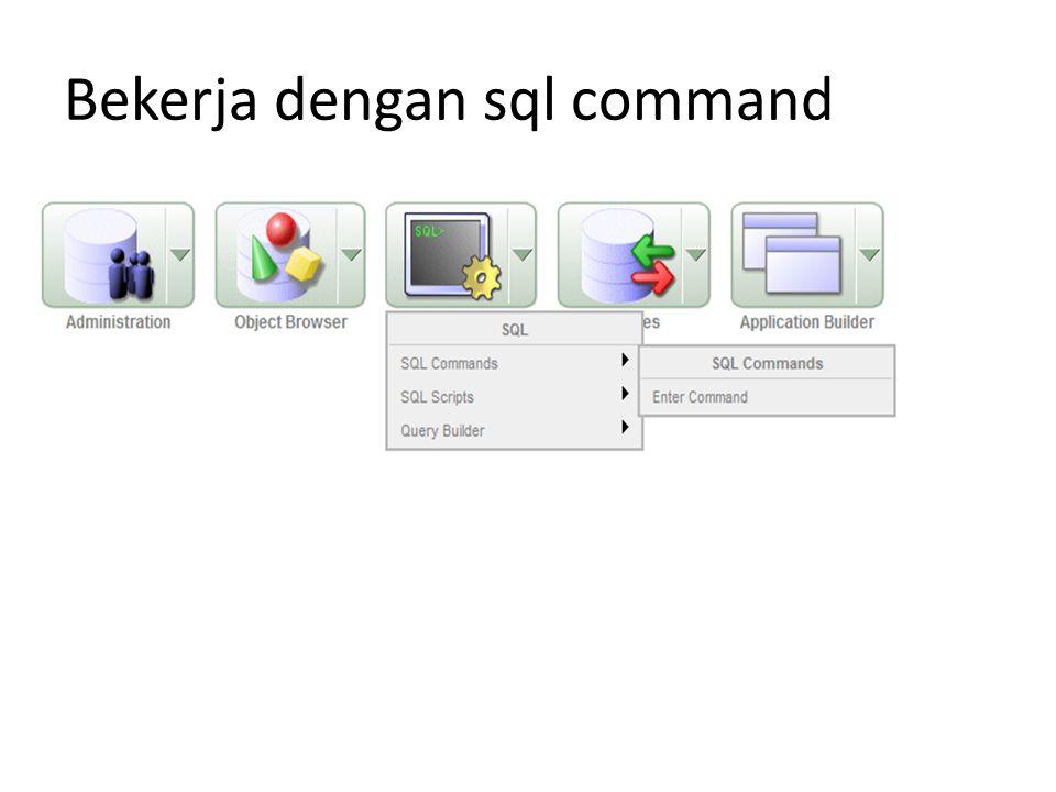 Bekerja dengan sql command