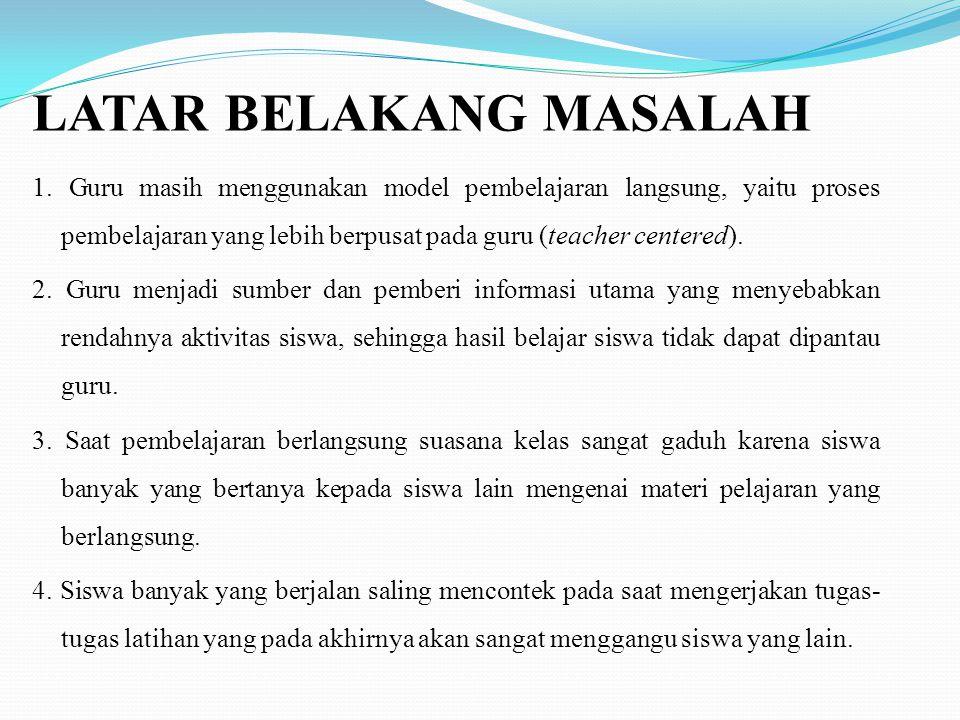 LATAR BELAKANG MASALAH 1.