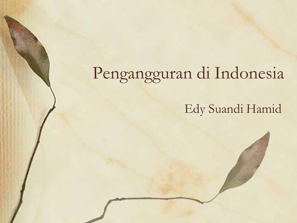 Pengangguran di Indonesia Edy Suandi Hamid